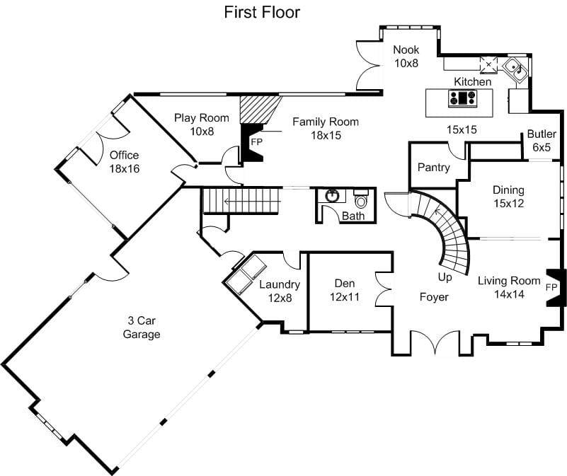 Home ideas drawing simple floor plans for Easy floor plan sketch